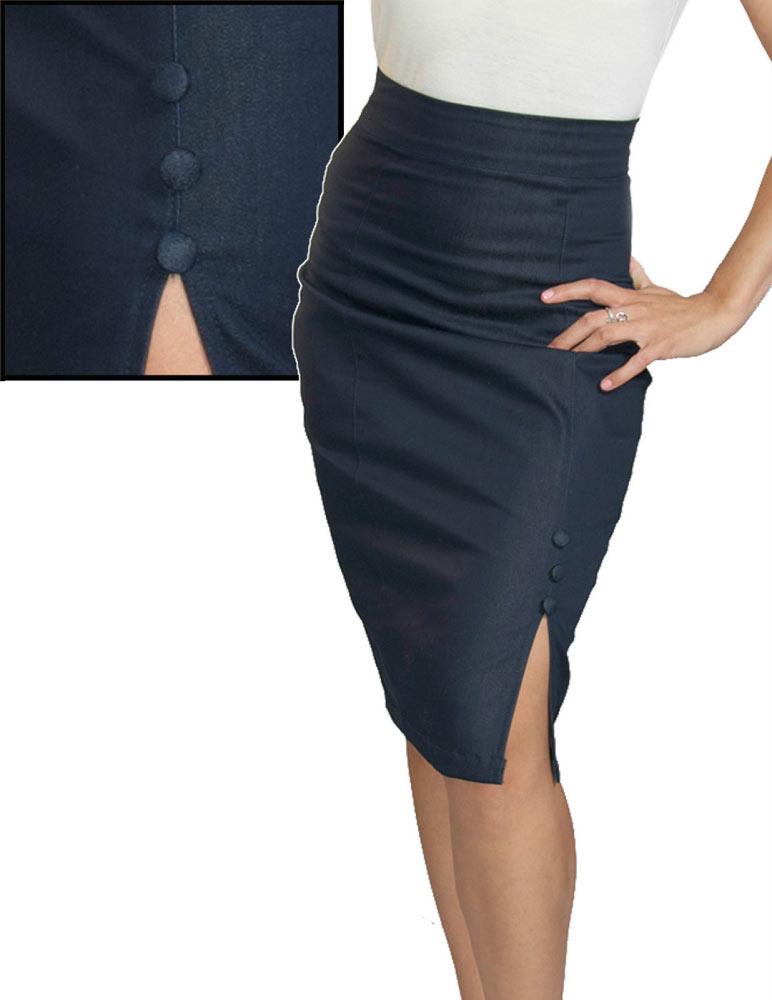 7a43681a81 Steady Clothing Stretch Denim Indigo Wiggle Skirt
