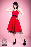 H&R London Red Small Polka Dot Retro Swing Dress