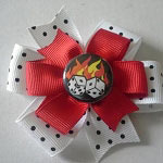 Flaming Dice Hair Bow