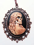 Lady of Death Copper Cameo Necklace
