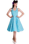 Hell Bunny Aqua Mariam Dress