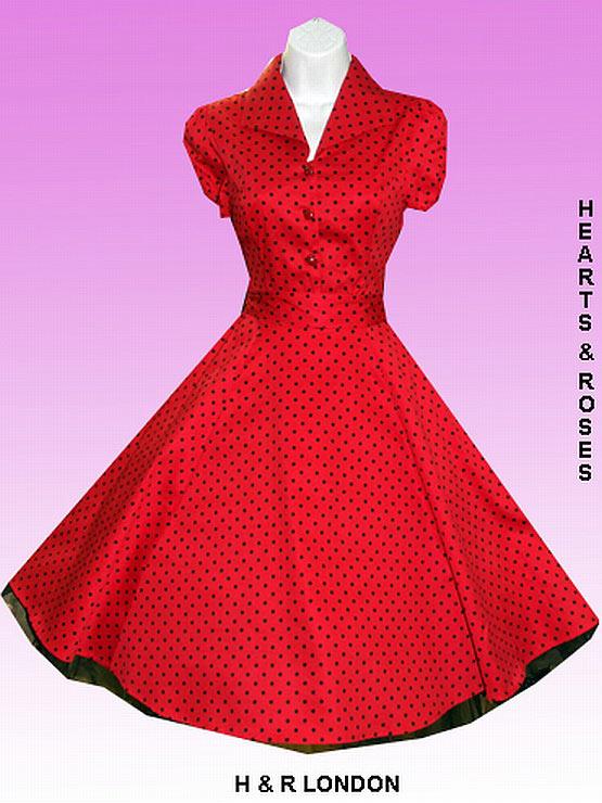 Red polka dot plus size dress