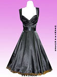 H&R London Black Satin 50's Dress