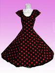 Black and Red Big Dots 50's Dress