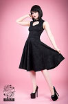 The Sweetheart Dress in Black Brocade