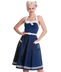 Hell Bunny Navy Siren Dress