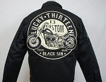 Lucky 13 Black Sin Men's Lined Jacket