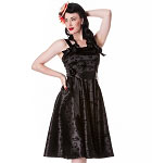 Hell Bunny Black Tattoo Flocked Dress
