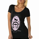 Lucky 13 Charmed Womens Scoop Neck Tshirt