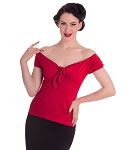 Hell Bunny Cilla Red Top