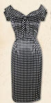 Lucky 13 Dead End Polka A Dot Wiggle Dress