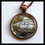 Vintage Ship Necklace