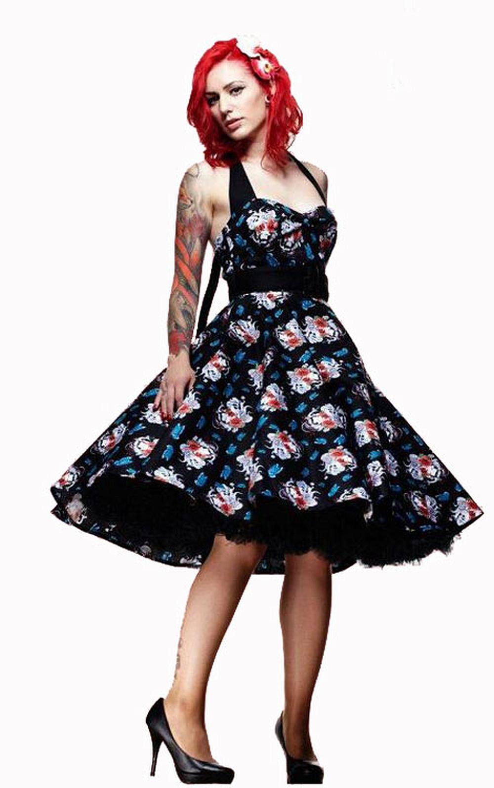 e3f8584f486 Home   Plus Sizes   Dresses   Hell Bunny Geisha 50s Dress
