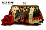 Hold Fast Handbags Retro Monster Movie Clutch
