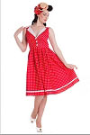 Hell Bunny Red Karen Swing Dress