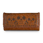 Loungefly Brown Faux Leather Skull Birds Wallet