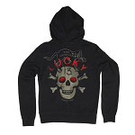 Lucky 13 Black Cat Original Mens Zip Hoody