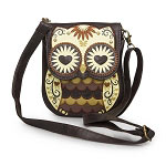 Loungefly Mini Brown Owl with Heart Eyes Crossbody Bag