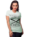 Tequila Cartel  Ladies Mint Tshirt