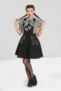 Hell Bunny Miss Muffet Pinafore Dress