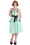 Hell Bunny Mint Martie 50's Dress