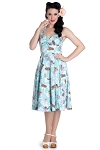 Hell Bunny Blue Suki 50's Dress