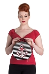 Hell Bunny Anchor and Heart Bag