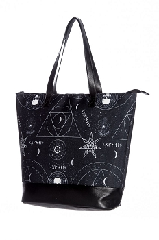 Hell Bunny Dark Magic Rune Large Shoulder Tote Bag