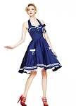 Hell Bunny Motley 50's Sailor Dress NAVY