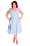 Hell Bunny Eveline Dress in Sky Blue