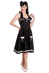 Hell Bunny Motley 50's Sailor Dress BLACK