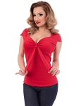 Sweetheart Tie Top ReD