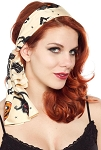 Bad Girl Cats Retro Scarf