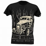 King Kerosin Flamingo Hot Rod Mens Tshirt