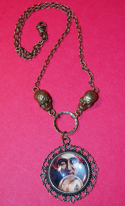I See You Fortune Teller Vintage Necklace
