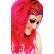 Muerte Bow Barrettes  (Red)