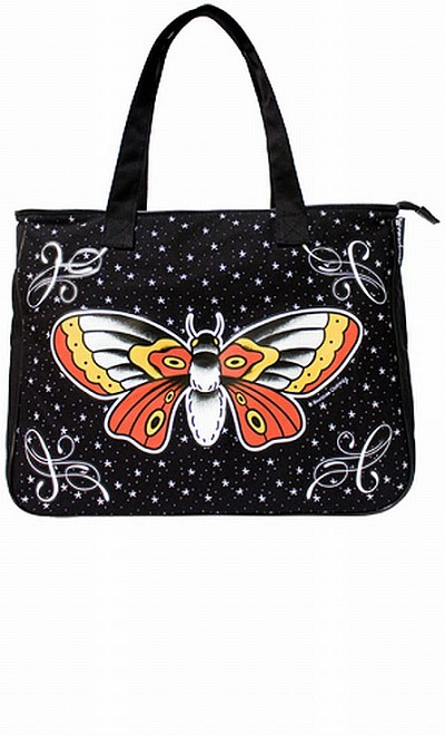 Deadly Moth Tattoo Flash Bag