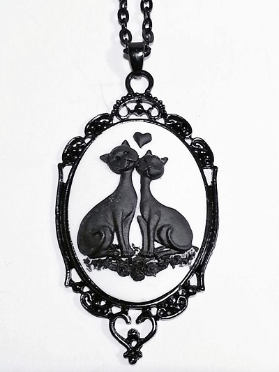 Love is Purrfect Cameo Necklace