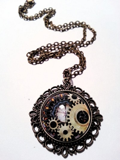 Grind My Gears Steampunk Necklace