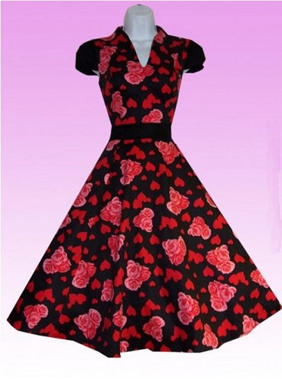 Hearts and Roses 50's Dress