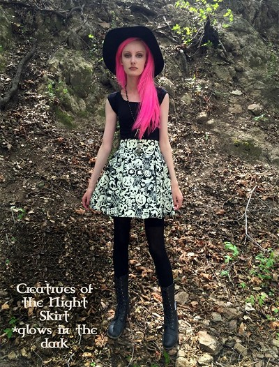 Folter Creature of the Night Skirt (Glows in the dark!)