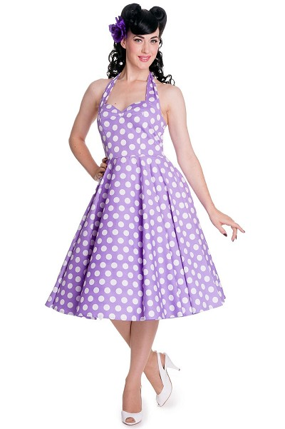 Hell Bunny Lavender Mariam Dress