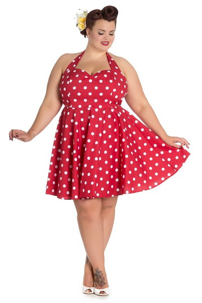 Hell Bunny Red Polka Dot Nicky Mini Dress