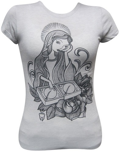 DJ Mary Ladies Gray Tshirt