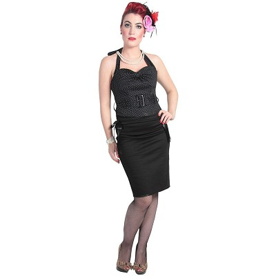Hell Bunny 50's Rockabilly Polka Colette Top