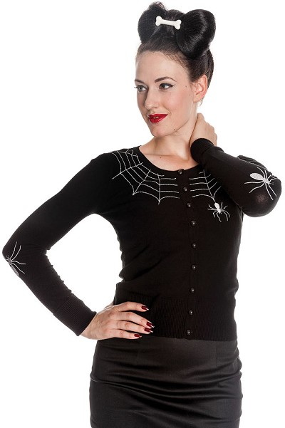 Hell Bunny Spider Cardigan