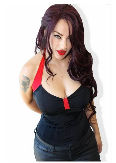 Black Betty Halter Pinup Top