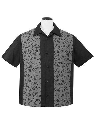 Gearheads Panel Mens Button Up Shirt