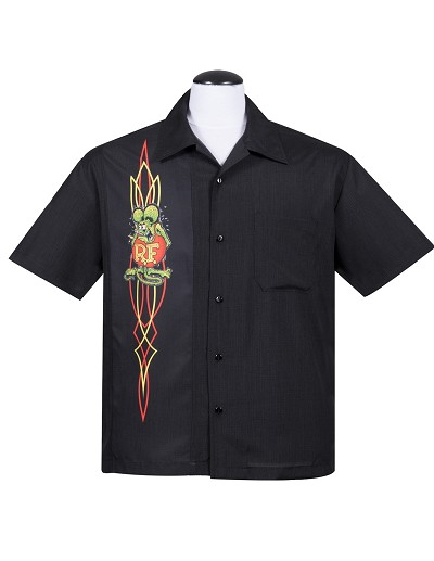 Rat Fink Pinstripe Panel Button Up