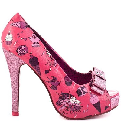 Iron Fist Demon Donkey Platform  (Vegan) - Hot Pink
